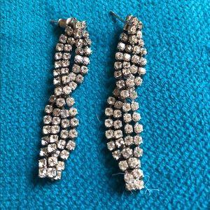 Diamond Loose Braid Drop Earrings